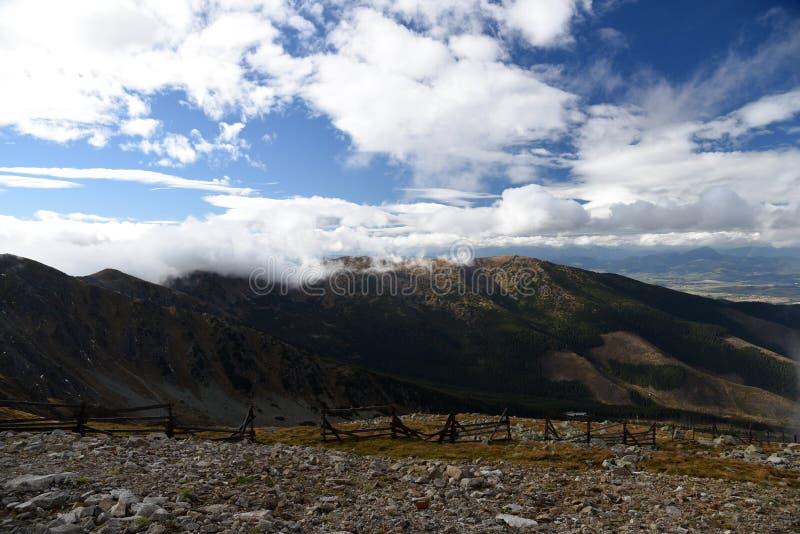 从Chopok山峰的看法在秋天Nizke Tatry山在斯洛伐克 图库摄影