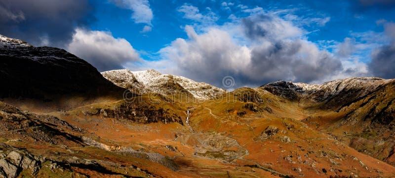 从Coniston老人,英国湖区的看法北部 图库摄影