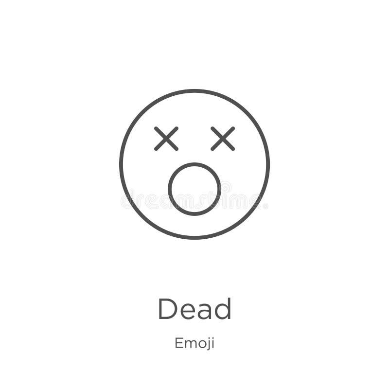 从emoji汇集的死的象传染媒介 稀薄的线死的概述象传染媒介例证 概述,稀薄的线网站的死的象 皇族释放例证