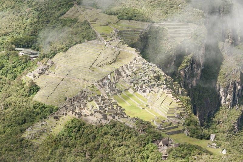 从Huayna看见的马丘比丘Picchu 库存照片