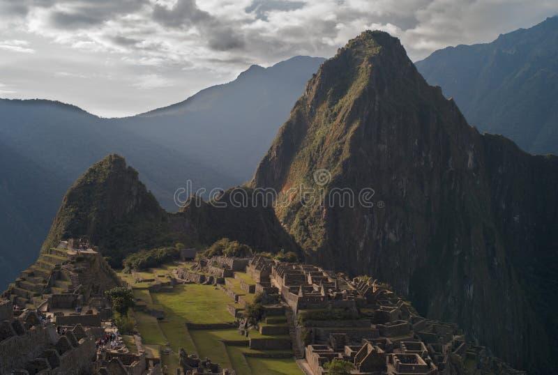 从Huayna看见的马丘比丘Picchu 图库摄影
