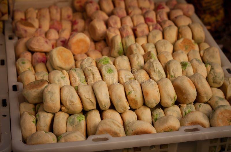 从jogja日惹印度尼西亚的bakpia传统食物 库存图片