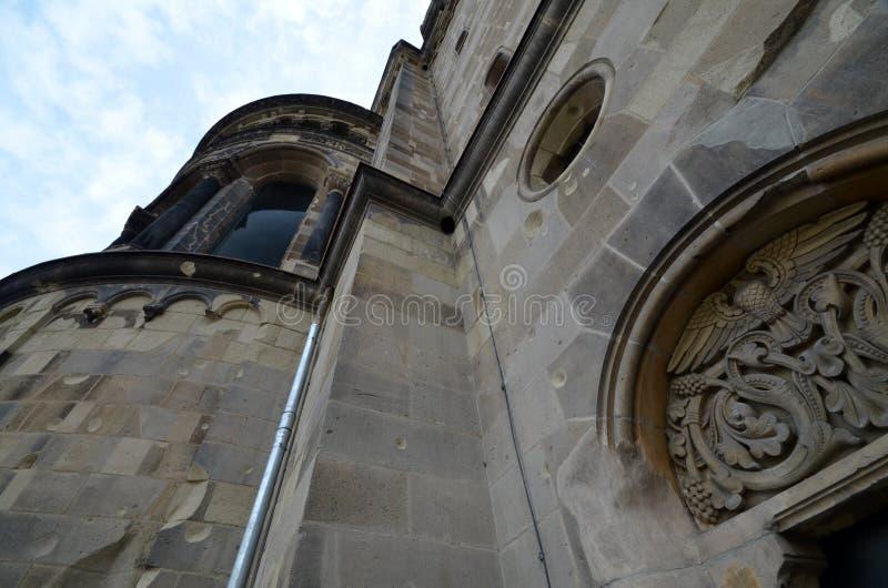 从Kaiser威谦廉纪念教会, Gedaechtniskirche的印象在柏林,德国 免版税库存照片
