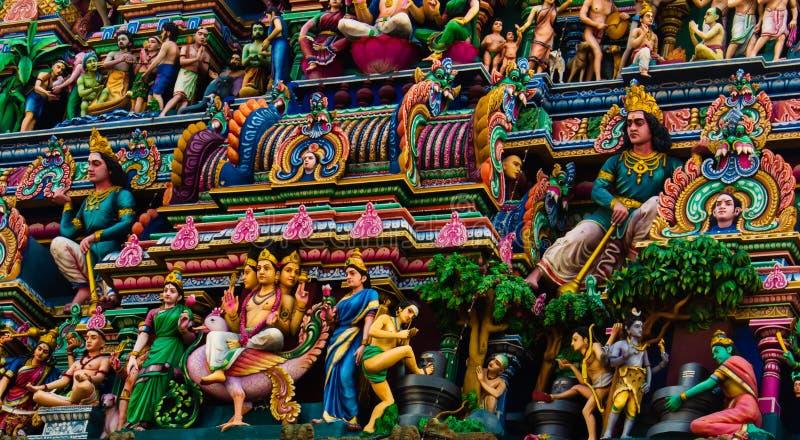 从Kapaleeshwarar Temple寺的Gopuram塔欣赏到印度钦奈Mylapore 免版税库存照片