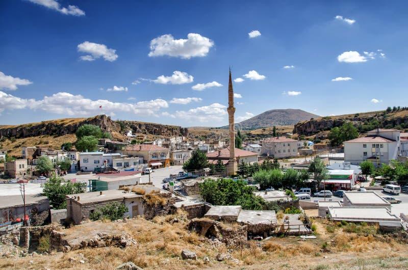 从Kaymakli地下都市风景的看法在卡帕多细亚,土耳其 免版税库存图片