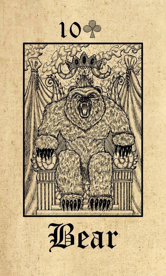 ? 从Lenormand哥特式奥秘oracle甲板的占卜用的纸牌 库存例证
