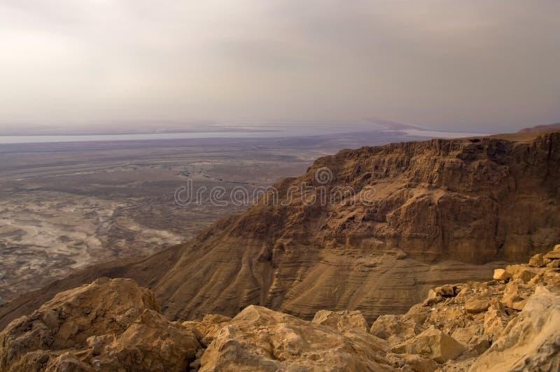 从Masad的山的视图 库存图片