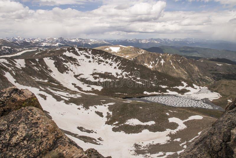 从Mt的Summit湖 伊万斯 免版税库存照片