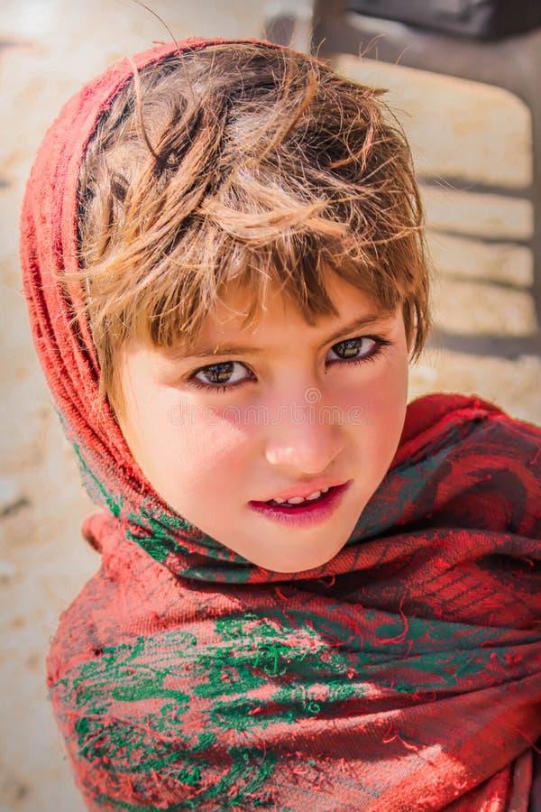 从Naran巴基斯坦- 2017的女婴儿童微笑-秀丽 图库摄影