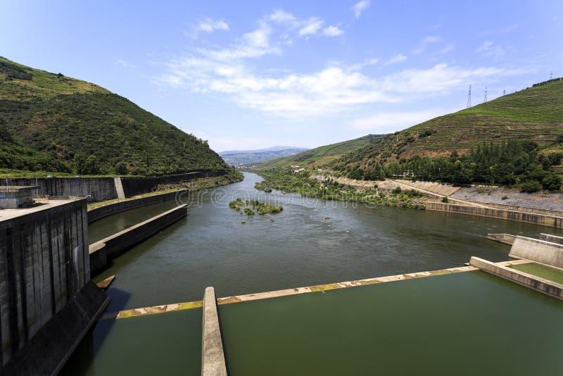 从Regua水坝的顺流看法 库存照片