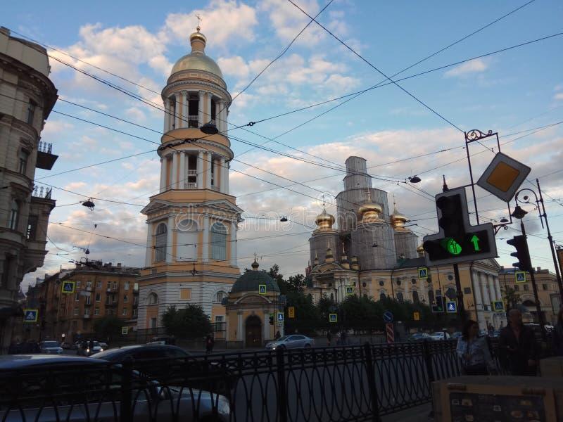 从sankt-peterburg的教会照片 库存图片