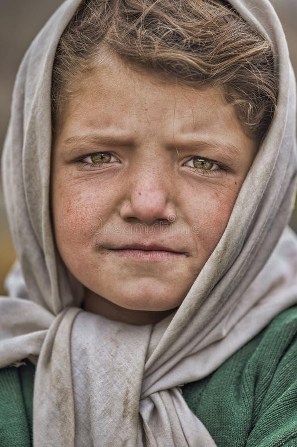 从Shimshal的美丽的女孩 Hunza 免版税库存照片