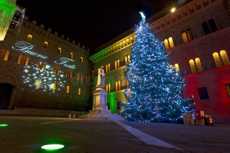 从Siena的圣诞节明信片 免版税图库摄影