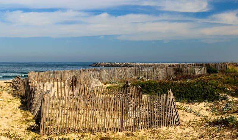 从Silvalde的沙丘,埃斯皮纽,葡萄牙 免版税库存图片