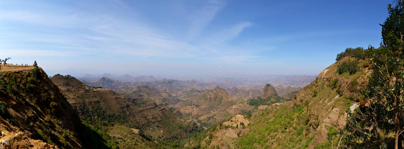 从Simien山的全景 免版税库存照片