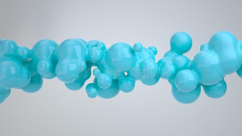 从spherecial形状的抽象蓝色泡影 皇族释放例证