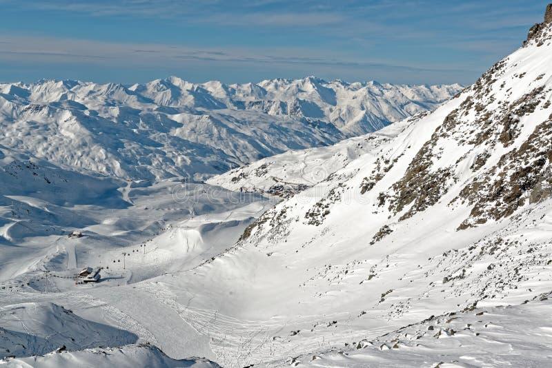 从Thorens冰川的顶端全景 库存照片