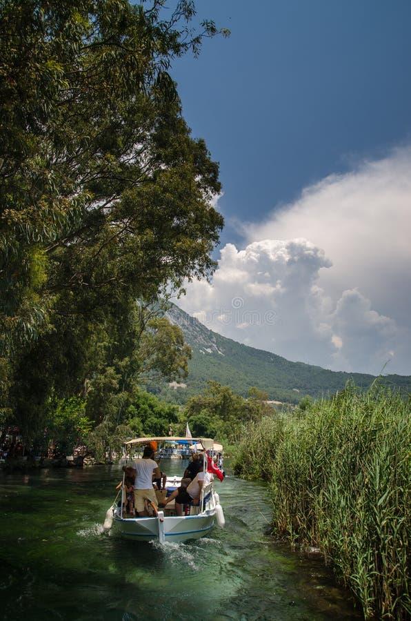 从Ula/Akyaka/Mugla的Azmak河 库存图片