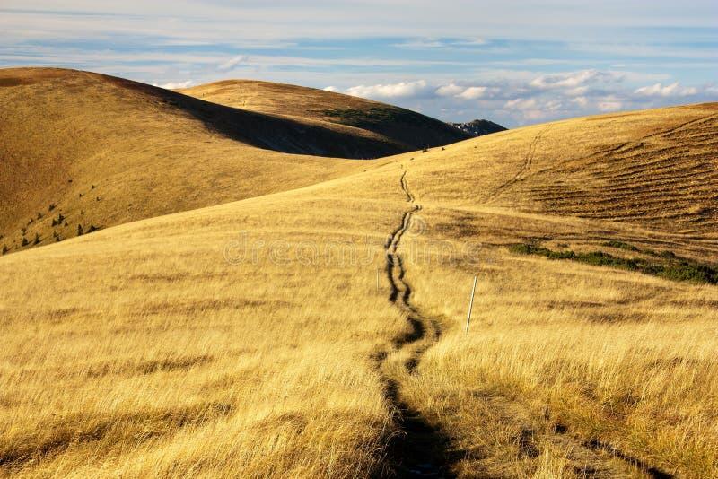 从Velka Fatra山的秋季视图 免版税库存图片