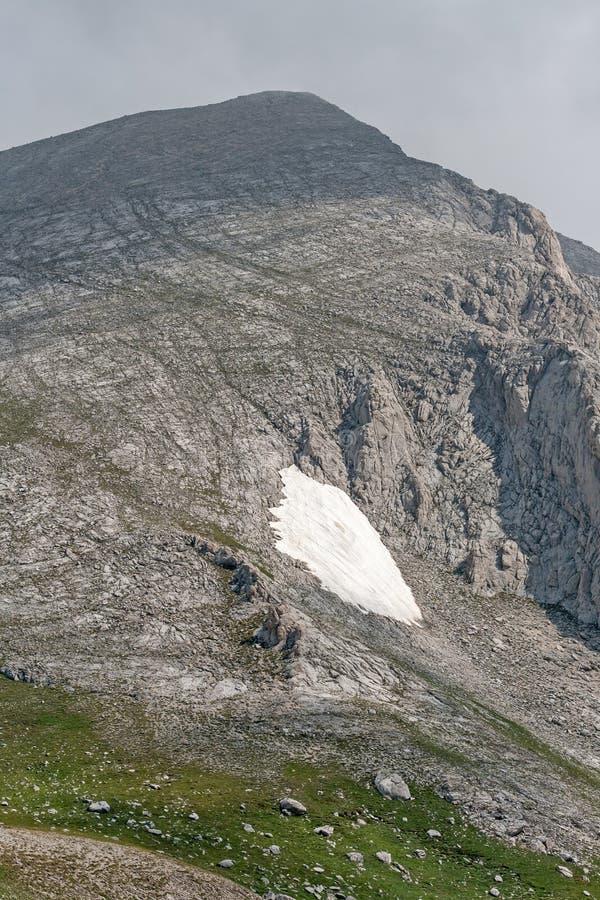 从Vihren高峰地区的全景 库存图片