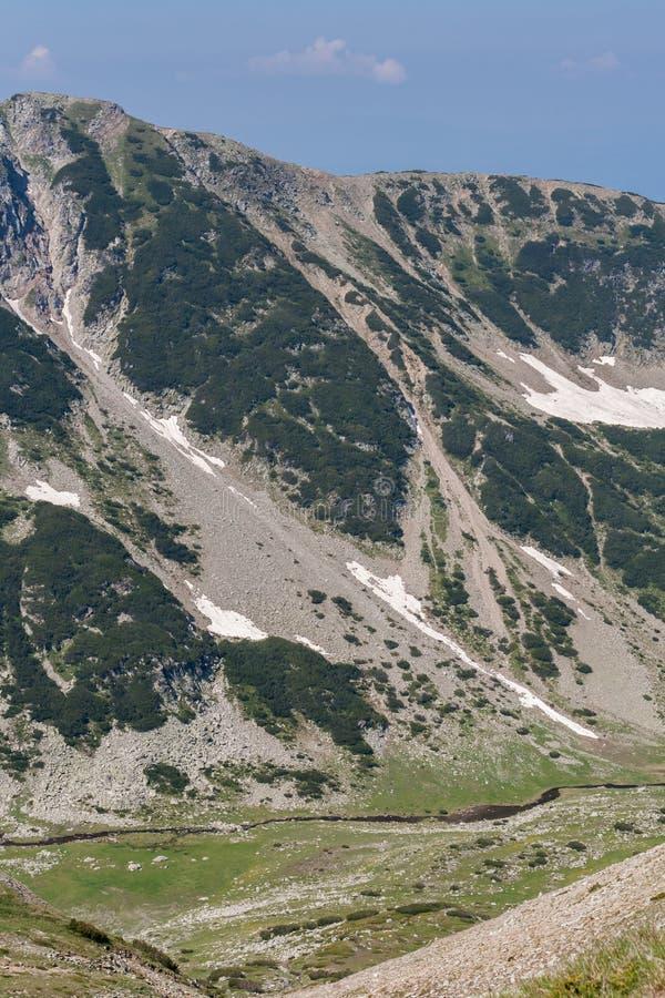 从Vihren高峰地区的全景 免版税库存照片