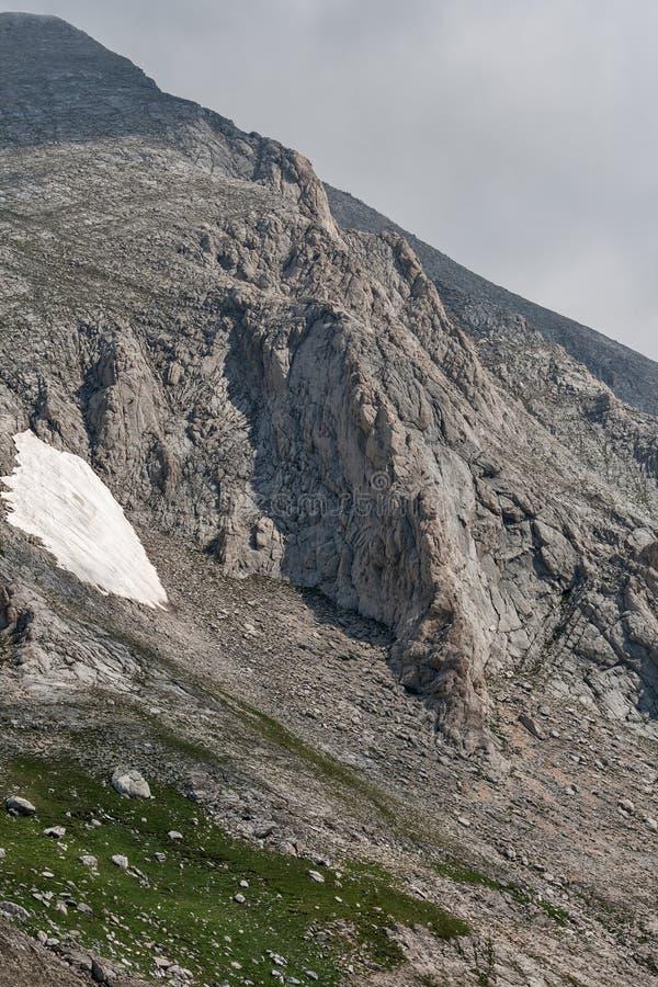 从Vihren高峰地区的全景 免版税库存图片