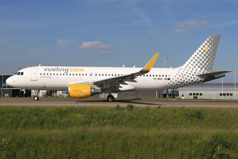 从Vueling的空中客车A320 免版税图库摄影