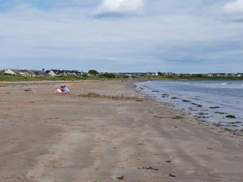 仓促海滩在爱尔兰 图库摄影
