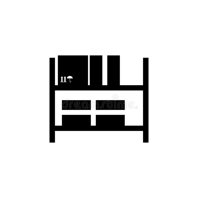 仓库搁置象 后勤学象的元素 优质质量图形设计象 标志和标志汇集象网的 向量例证