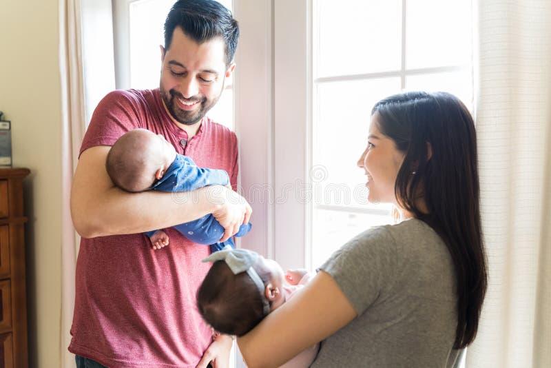 他们于爱的家出生 免版税图库摄影
