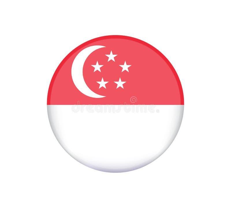 他新加坡是东南亚国家联盟经济共同体AEC的成员 新加坡国旗  皇族释放例证