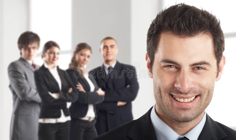 他的领导先锋小组 免版税库存照片