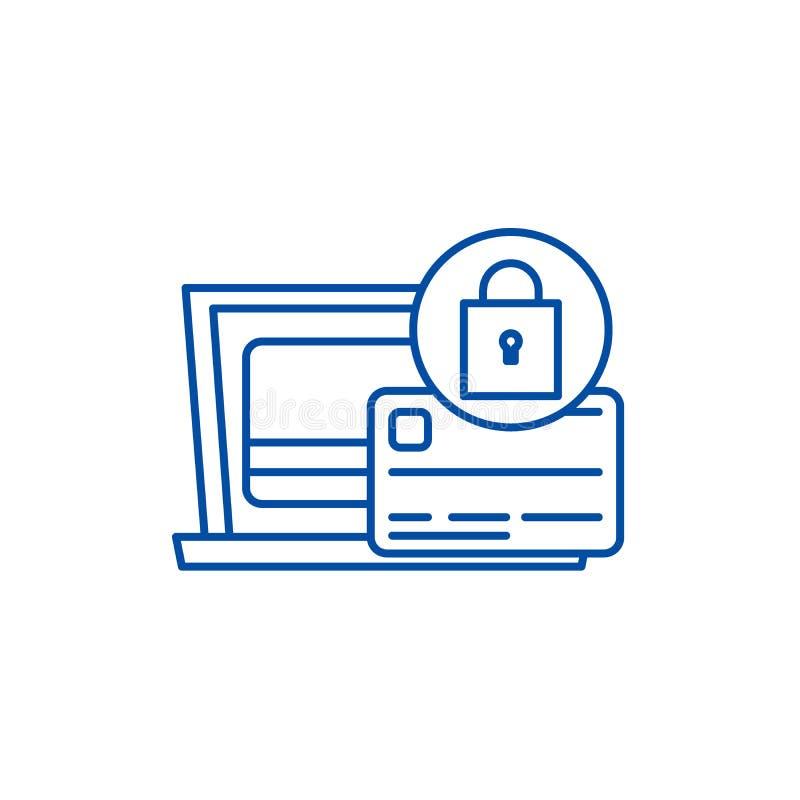 付款保护线象概念 付款保护平的传染媒介标志,标志,概述例证 皇族释放例证