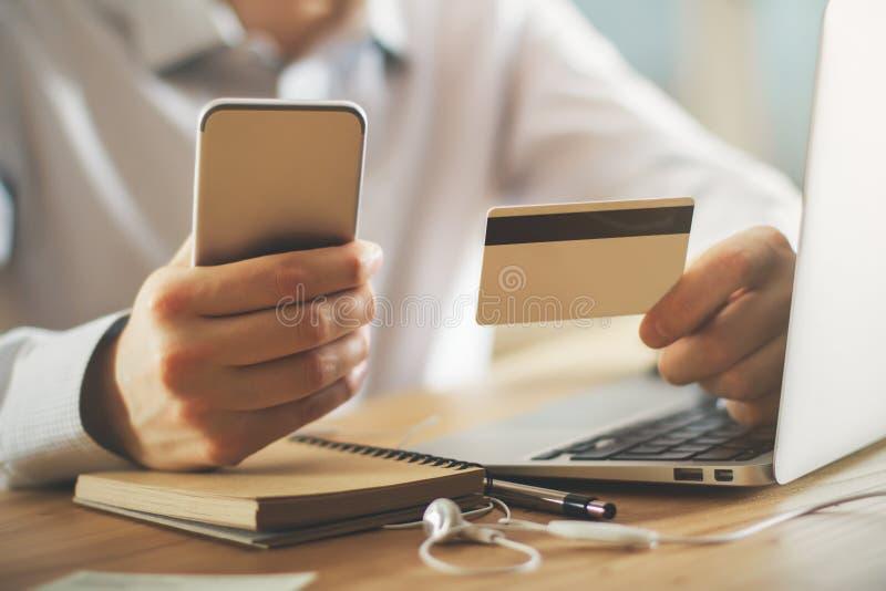 付款和交易概念 图库摄影