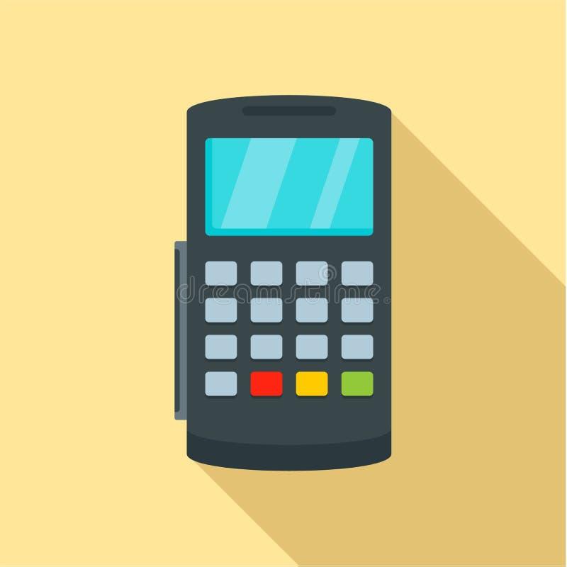 付款数字式银行终端象,平的样式 皇族释放例证