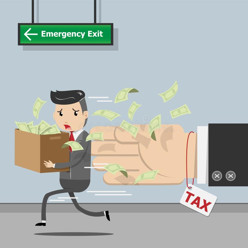 付税,州政府征税,税的演算为 向量例证