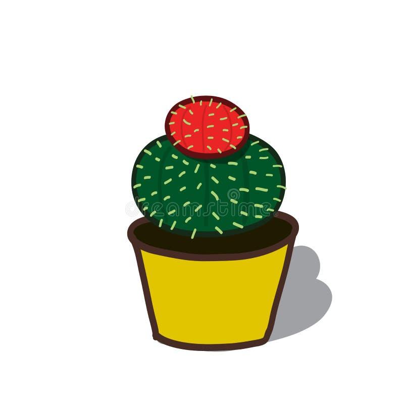仙人掌树的动画片例证 库存照片