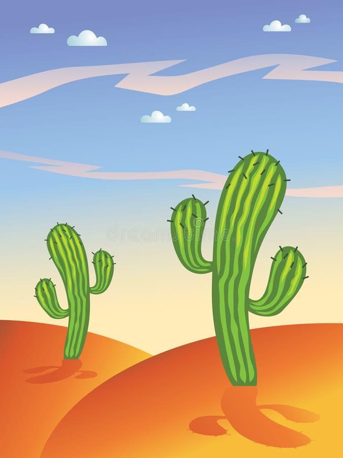 仙人掌沙漠 库存例证
