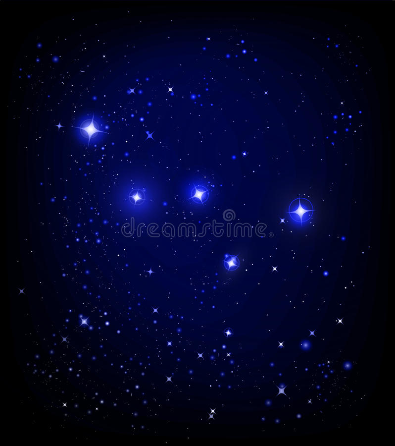 仙后座满天星斗星座的天空 皇族释放例证