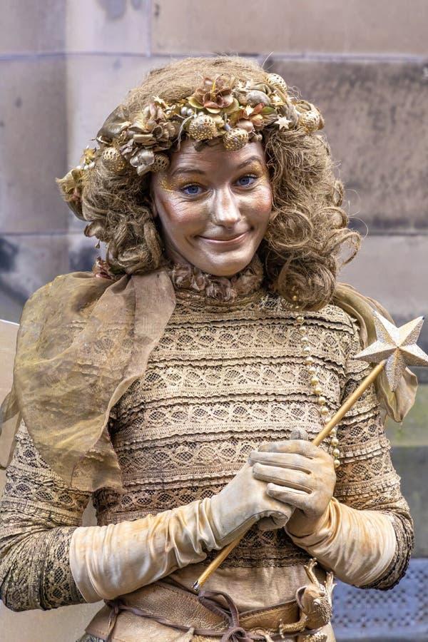 仙境爱丁堡戏剧节边缘的边缘母亲 免版税库存图片