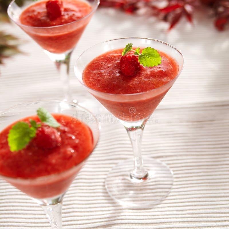 代基里酒冻结的草莓 免版税库存照片