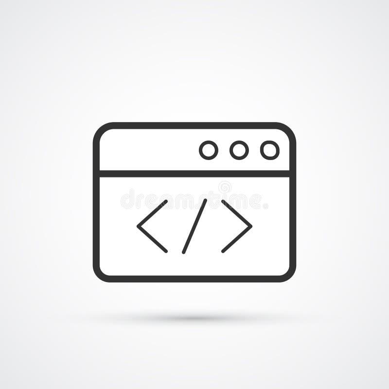 代码优化平的线时髦黑象 r 库存例证