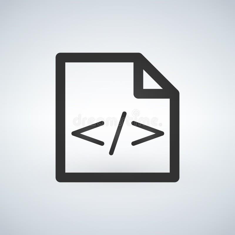 代码表象传染媒介,在现代背景隔绝的传染媒介例证 库存例证