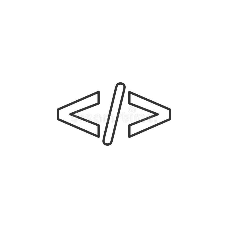代码,html线象 流动app的简单,现代平的传染媒介例证,网站或者桌面app 库存例证