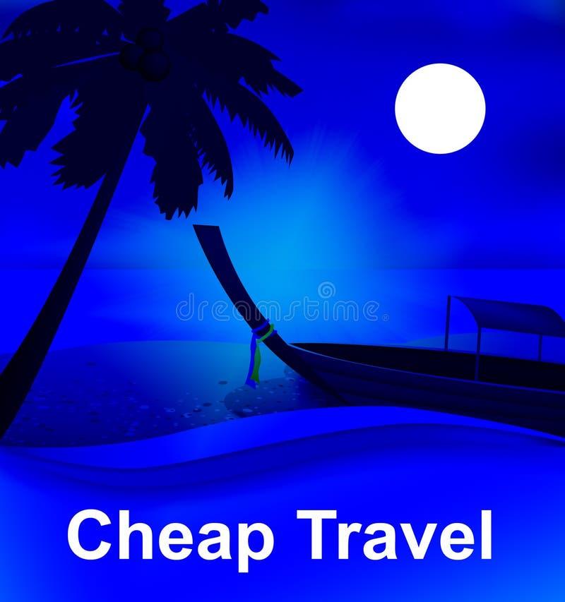 代表低成本的便宜的旅行游览3d例证 向量例证