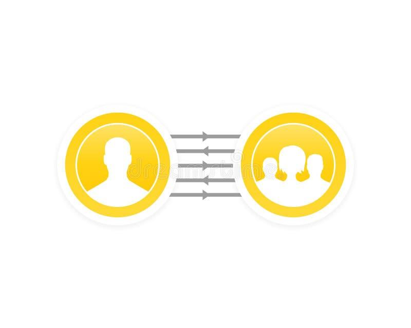代表团,合作,管理传染媒介 库存例证