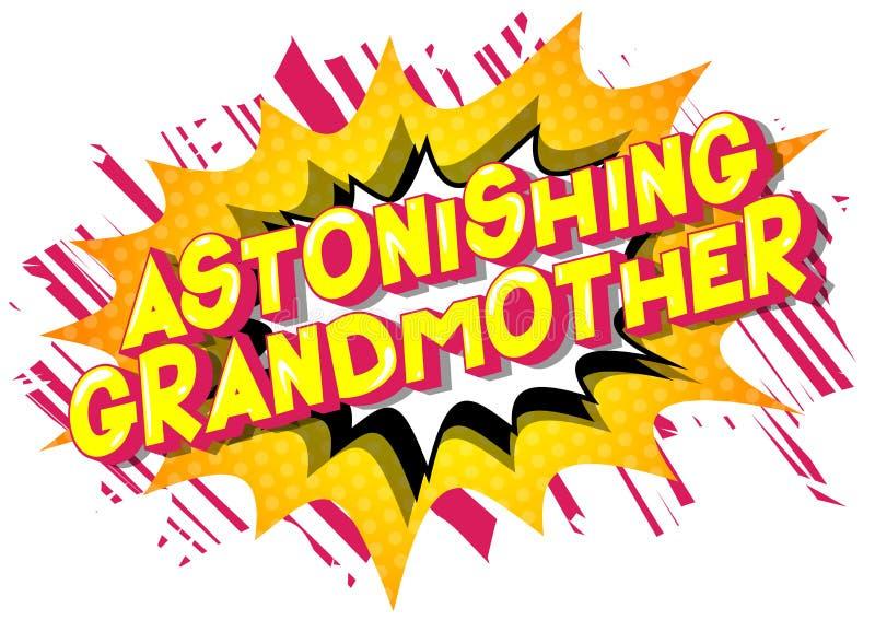 令人惊异的祖母-漫画样式词 库存例证