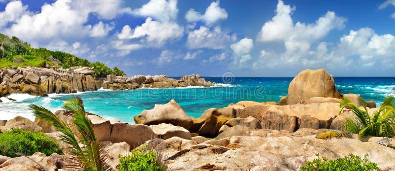 令人惊讶的塞舌尔群岛 免版税库存图片