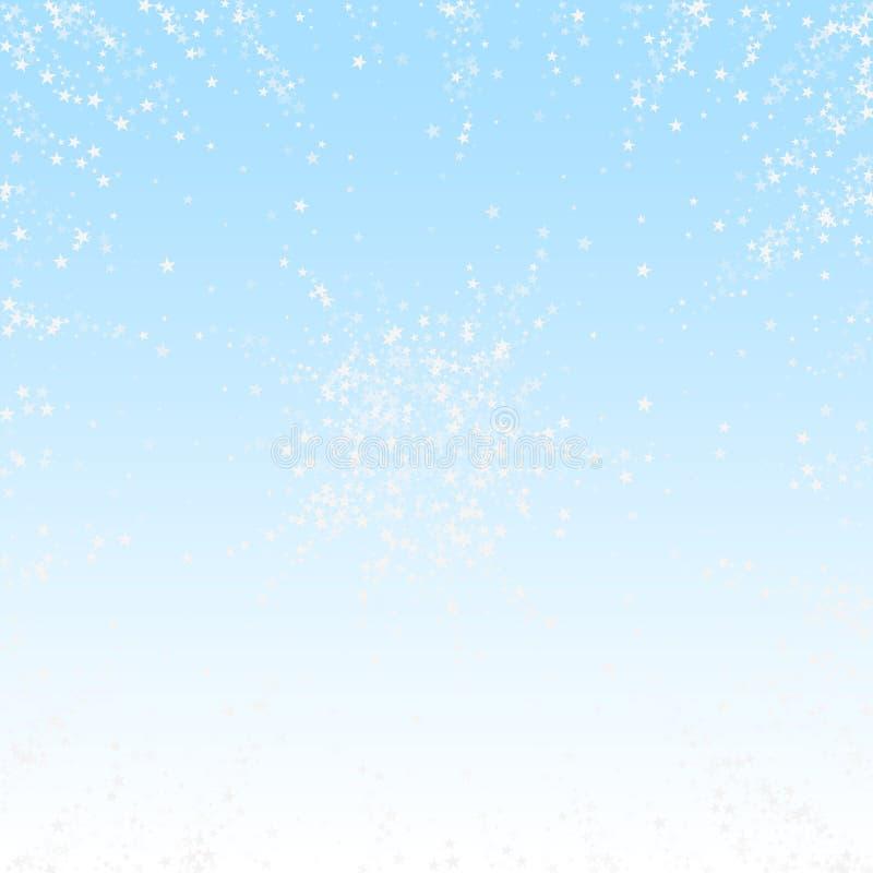 令人惊讶的流星圣诞节背景 细微 库存例证