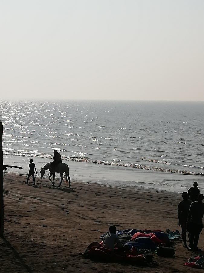 令人惊讶的海滩视图 图库摄影